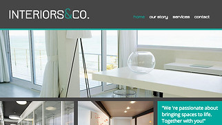 Architecture website templates - Interiors & Co