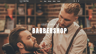 Beauty & Hair website templates - Barbershop