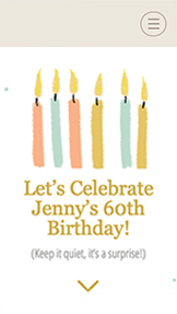 ホリデー・祝賀会 website templates – 60th Birthday Party