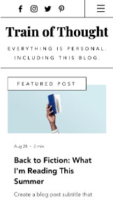 Personligt website templates – Personal Blog