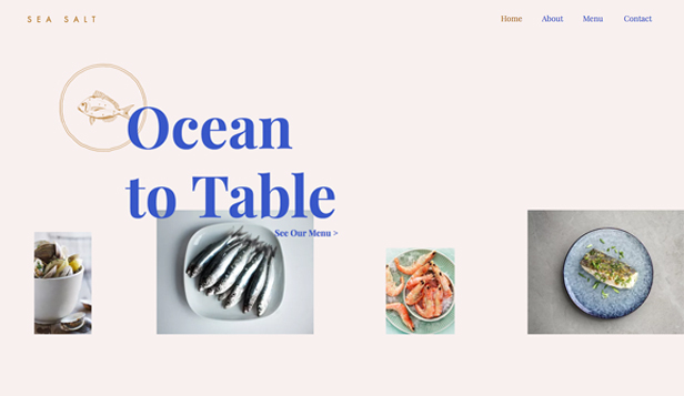 Restaurant website templates – Fish & Seafood Restaurant
