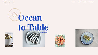 Restaurants & Food website templates - Seafood Restaurant