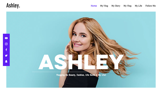 Vlogg website templates – Personlig blogg
