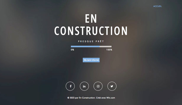 Templates de site web pour En construction - Site en construction