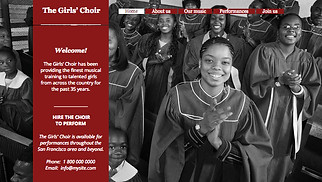 Religion website templates - The Girls' Choir