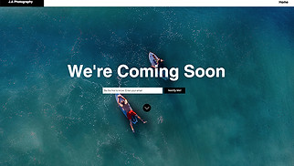 Landing Pages website templates - Photography Coming Soon
