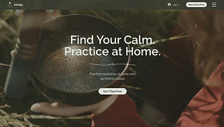 NEW! website templates - Online Meditation Classes