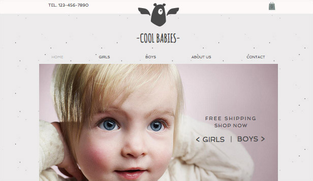 Barn & bebisar website templates – Babykläder