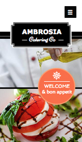 Arrangementer website templates – Cateringfirma