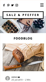 Lifestyle website templates – Food-Blog