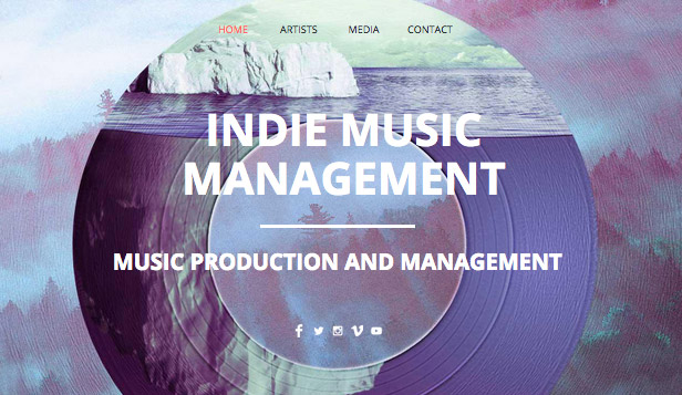 Musikindustrie website templates – Indie-Musikproduktion
