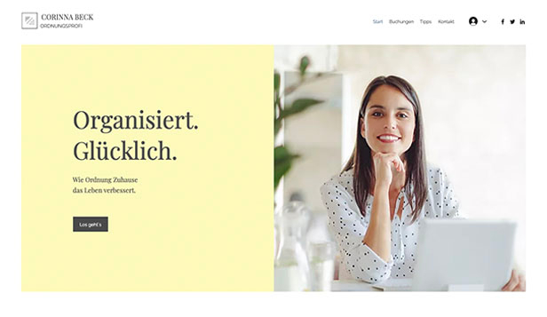 Alle website templates – Ordnungsberater