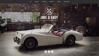 All website templates - Vintage Car Garage