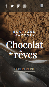 Restaurants en eten website templates – Chocolatier