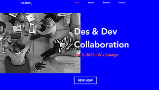 Conferences & Meetups website templates - Design/UX Meetup