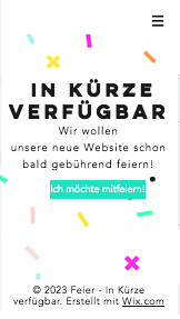 Landingpage website templates – Feier-Website im Aufbau