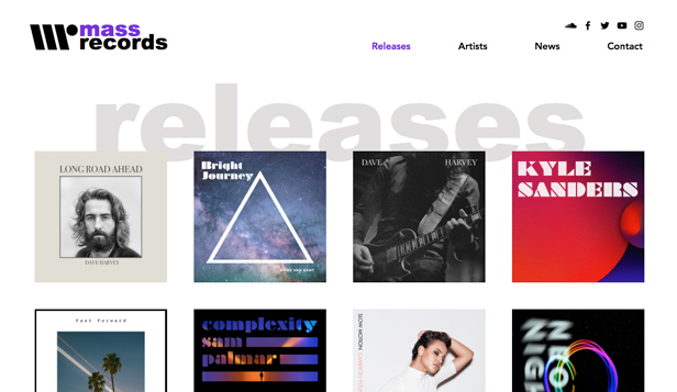 Musikindustrie website templates – Plattenlabel