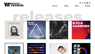 Music Industry website templates - Record Label