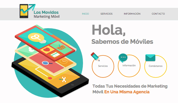 Tecnología y Apps plantillas web – Marketing móvil