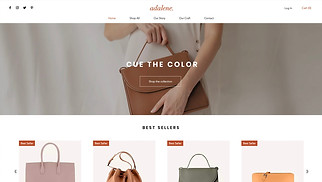 Online Store website templates - Women's Accessories