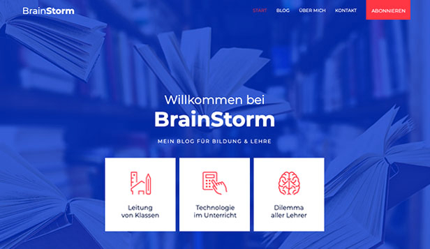 Alle website templates – Education Blog