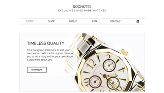 Jewelry & Accessories website templates - Watch Shop