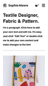 Arts & Crafts website templates – Textile Designer