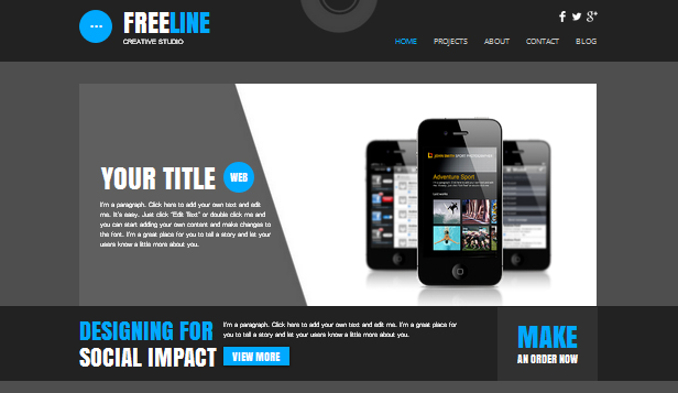 Technologie und Apps website templates – Webstudio