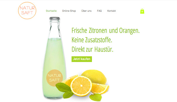 Restaurants & Essen website templates –  Frische Säfte