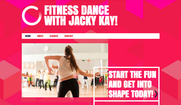 Deportes y fitness plantillas web – Instructor de baile