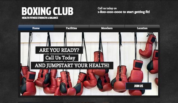 Spor ve Fitness website templates – Boks Kulübü