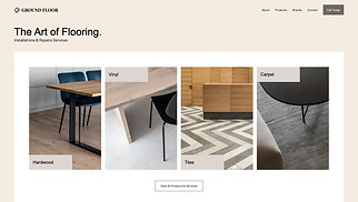 NEW! website templates - Flooring Services