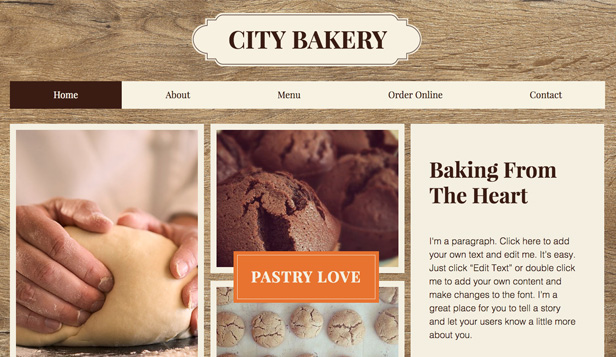 Kafe ve Pastane website templates – Şehir Pastanesi