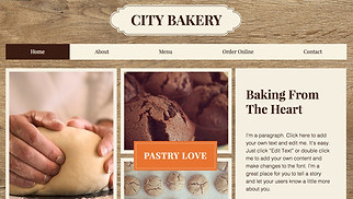 Restaurants & Food website templates - City Bakery
