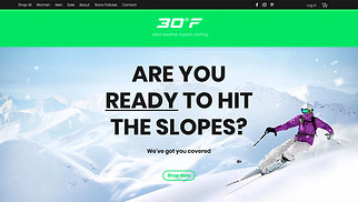 Online Store website templates - Online Ski Shop