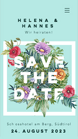 Hochzeiten website templates – Save the Date