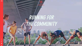 Events website templates - Running Club