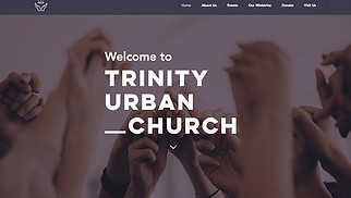 Religion website templates - Urban Church