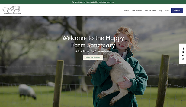Todas plantillas web – Farm Sanctuary