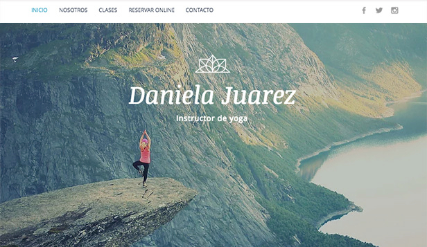 Bienestar plantillas web – Instructor de Yoga
