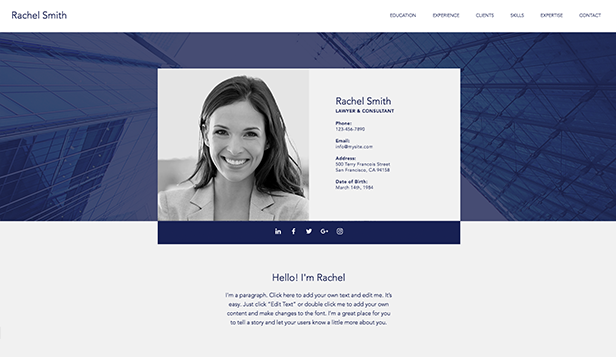 Resume og CV website templates – Profesjonell CV