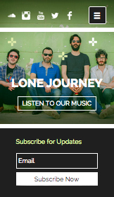 Musik website templates – Die Band