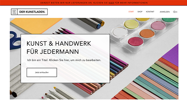 Alle website templates – Laden für Kunst & Handwerk