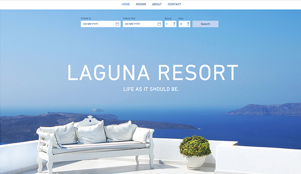 Hotele i B&B website templates – Kurort Laguna