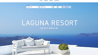 Travel & Tourism website templates - Laguna Resort