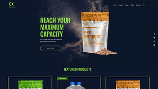 Sports & Outdoors website templates - Sports Nutrition Store