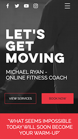 Sport i fitness website templates – Trener fitness online