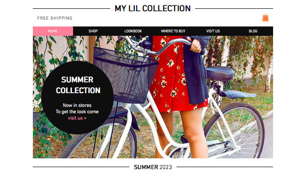 Mode website templates – Sommerkollektion