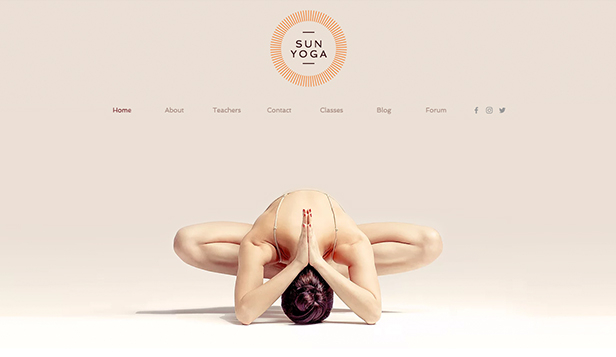 Gezondheid en wellness website templates – Yogacentrum