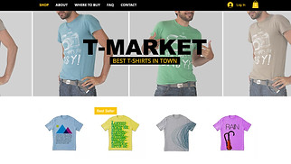Online Store website templates - T-shirt Market